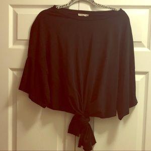 Zara Black Knotted T Shirt 🦋